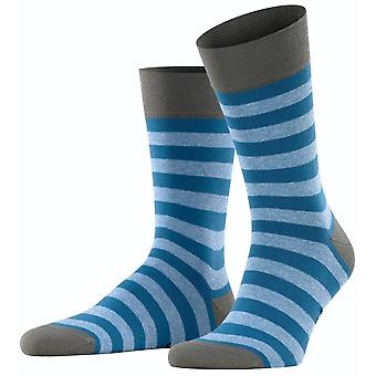 Falke Sensitive Mapped Line Socks - Asche Blue/Grey