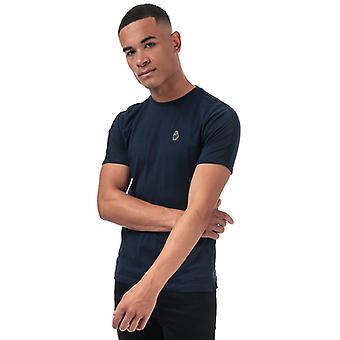 Men's Luke 1977 Trouser Tape T-Shirt in Blue