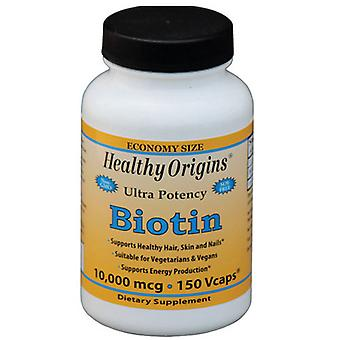 Healthy Origins Biotin, 10,000 mcg, 150 Veg Caps