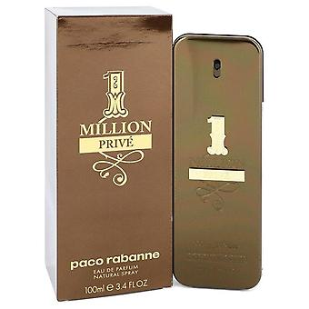 1 Million Prive Eau De Parfum Spray By Paco Rabanne 3.4 oz Eau De Parfum Spray