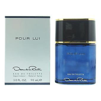 Oscar de la Renta Pour Lui Eau de Toilette 90ml Spray For Him - NEW. Men's - EDT