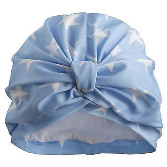 Sky Blue Stars Shower Turban