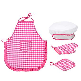 Kids Cooking And Baking Kitchen Deluxe Chef Set, Costume Pretend Role Play Kit