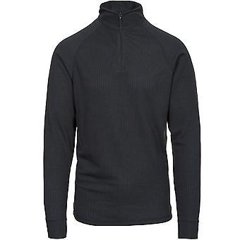 Trespass Erwachsene Wise360 1/2 Zip Long Sleeve Quick Dry Thermal Top - Schwarz