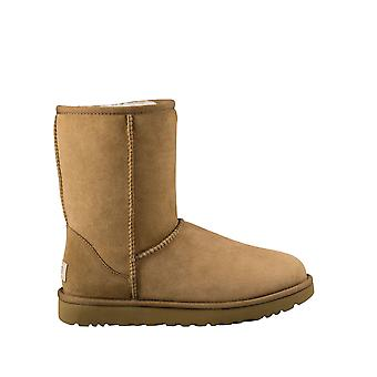 Ugg Women's Classic Short 1.5 Chestnut Leather Boots