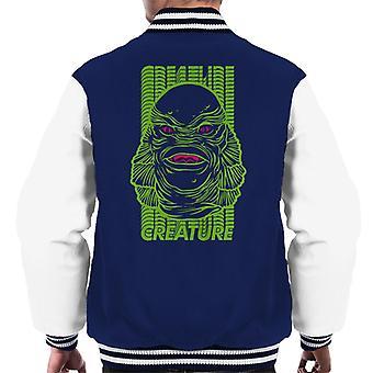 The Creature From The Black Lagoon Head Illustration Men's Varsity Jacket