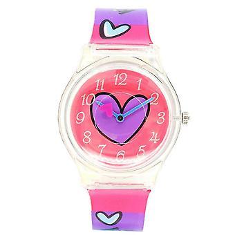 Водонепроницаемые светящиеся светодиодные цифровые сенсорные детские часы - Цветная любовь