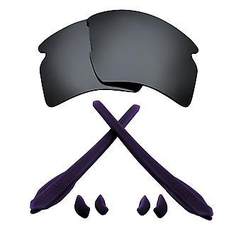 استبدال العدسات & كيت ل Oakley Flak 2.0 XL الأسود إيريديوم & الأزرق الداكن المضادة للخدش المضادة للوهج UV400 من قبل SeekOptics