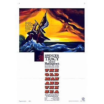 Der alte Mann und das Meer-Film-Plakat-Druck (27 x 40)