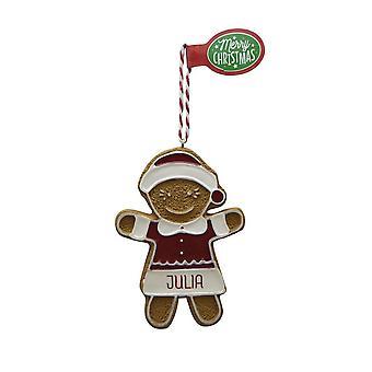 Pendentif d'arbre de Noël julia de figure de pain d'épice