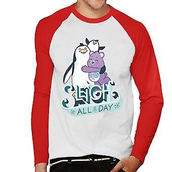 Care Bears Avaa Magic Christmas reki koko päivän Men's Baseball Pitkähihainen T-paita