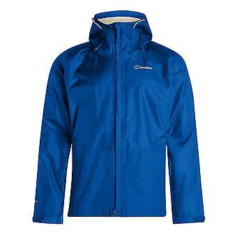 Berghaus Deluge Vented Mens Outdoor Waterproof Full Zip Hooded Jacket Coat Blue