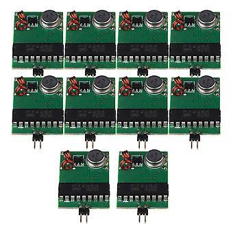 Verde Preto DC3V-12V 433MHz RF Transmissor Módulo Fixo Conjunto de Código fixo de 10