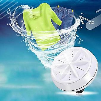 Usb Electric Ultrasonic Turbo Washing Machine Portable Travel Washer Rotating