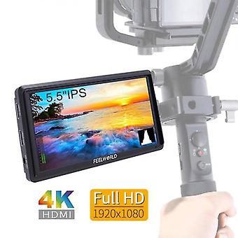 FEELWORLD FW568 5.5 inch On Camera Field DSLR Monitor Small Full HD 1920x1080 IPS Video Focus Assist 4K HDMI