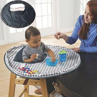 Eating Table Mat, Feeding Chair Cushion Waterproof, Round Folding Infants Pad