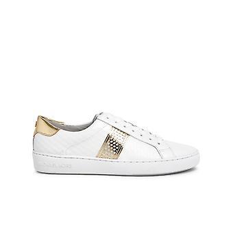 Michael By Michael Kors 43t0irfs7l085 Women's Beige Leather Sneakers