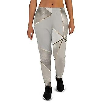 Mulheres''s Silver Gold Joggers