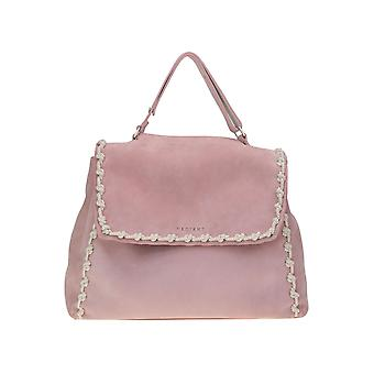Orciani Ezgl048002 Women's Pink Suede Handbag
