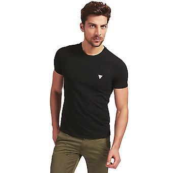 猜 S/S 超薄 T恤 - 黑色