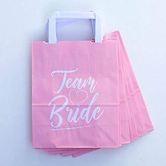 Hen Party Favour Bags | Team Bride Pink Bridal Shower Bachelorette Party x10