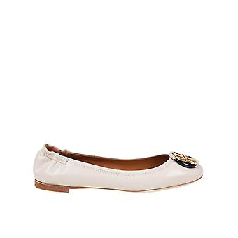 Tory Burch 74062122 Women's White Leather Flats