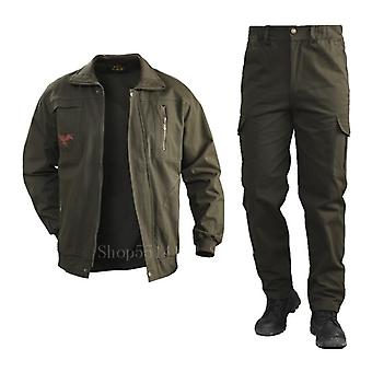 Cotton Military Cargo Pants Set, Tactical Camouflage Multicam Combat Bomber
