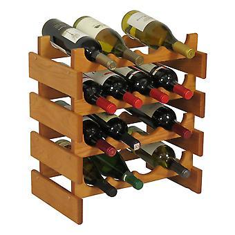 Legno Mallet 16 Bottiglia Dakota Wine Rack, Rovere Medio