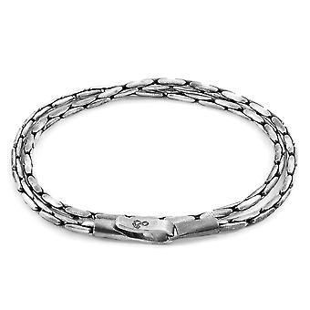 ANCHOR & CREW Mizzen Doppel Segel Silber Kette Armband