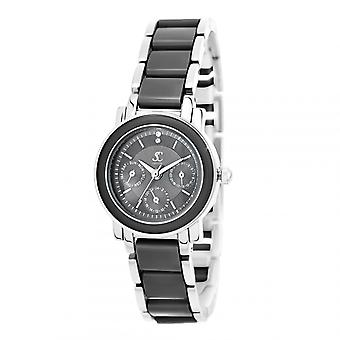 Kvinners klokke så sjarm MF434-NFN - svart aluminium armbånd