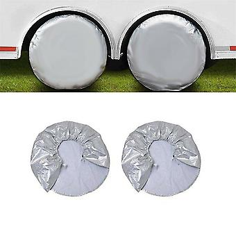 2pcs 32''/82cm Caravan Car Motorhome Wheel Cover Alloy Suitable Uv Protection