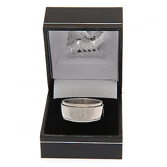 Manchester City FC Official Stainless Steel Spinner Ring