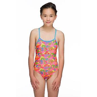Maru Happy Days Pacer Aero Back Girls Swimsuit- Pink