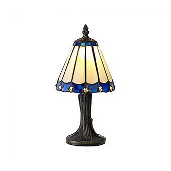 Lámpara De Mesa Tiffany Calais 1 Bombilla Azul 16 Cm
