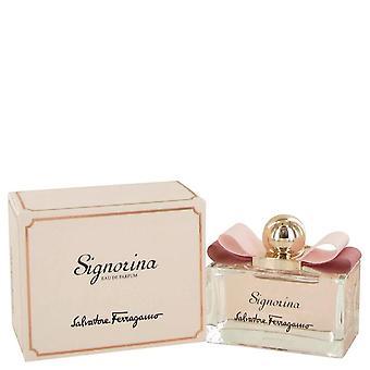 Signorina Eau De Parfum Spray By Salvatore Ferragamo 3.4 oz Eau De Parfum Spray