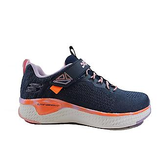 Skechers Solar Fuse - Paint Power 302041L Navy Mesh Girls Sporty Trainers
