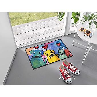 tvätt+torr dörrmatta Doggies 50 x 75 cm tvättbar smutsmatta