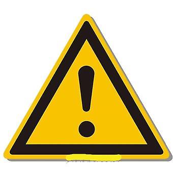 De Sticker van de Tekens van de waarschuwing