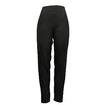 Cuddl Duds Plus Leggings Fleecewear Stretch Black Jogger A369295