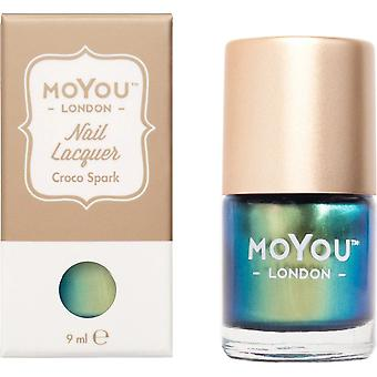 MoYou London Stamping Nail Lacquer - Croco Spark 9ml (MN002)