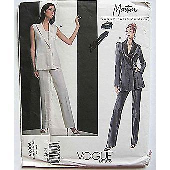 Vogue Coser Pattern 2806 Misses Montana Vest Jacket &Pants Sizes 12-14-16