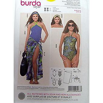 Burda Sewing Pattern 6963 - Swimming Costume, Sarong & Accessories Sizes: 6-18