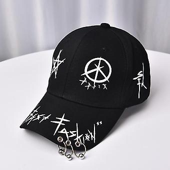 Graffiti Bts Snapback Baseball Caps, Patchwork Men Women Hip Hop Cap