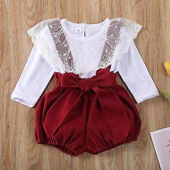Baby Clothes, Long Sleeve Tops Strap Shorts