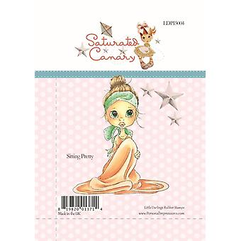 Little Darlings Sitting Pretty - Clear Stamps