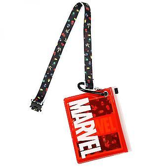 Marvel Logo Lanyard con bolsa de identificación