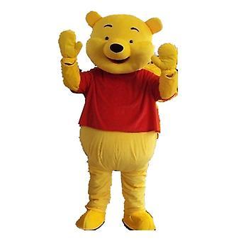 Keltainen Karhu Maskotti Puku Aikuisten Mekko
