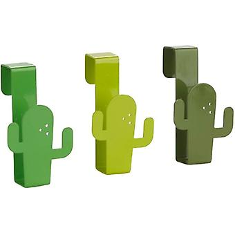 handtuchhalter Cactus 9 x 4 Stahl grün 3-teilig