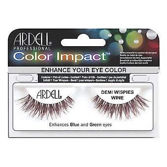 Ardell Color Impact Demi Wispies Wine Easy To Apply False Eye Lashes
