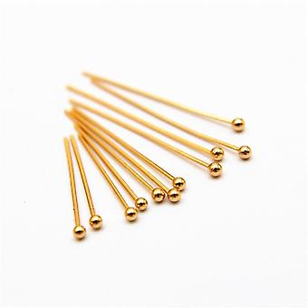 Stainless Steel Gold Silver Plated Ball Head Pins Findings Jewelry Making